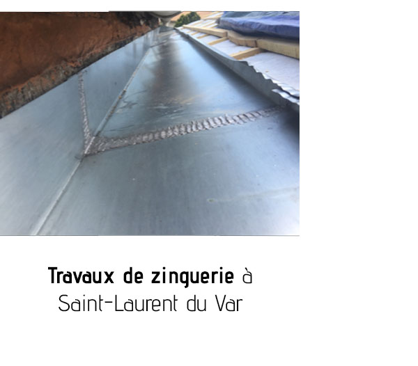 Travaux de zinguerie Saint Laurent du Var